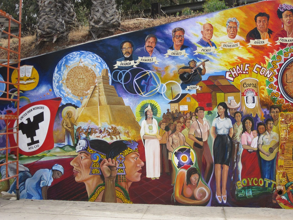 Chicano park map and mural restoration project for Mural history